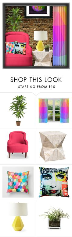 """""""10 Item Attempt"""" by sjlew ❤ liked on Polyvore featuring interior, interiors, interior design, home, home decor, interior decorating, PLANT, Kate Spade, Palecek and Pillow Decor"""