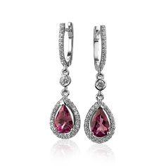 Cercei cu turmaline roz si cristale swarovski PD181 Swarovski, Pendant Necklace, Bracelets, Silver, Jewelry, Fashion, Moda, Jewlery, Jewerly