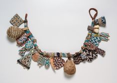 Africa | Kuba Belt.  DR Congo.  Ca, early 1900s | Cord, leather, glass beads and shells.