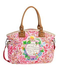 Up to 40% OFF Oilily Bags at zulily.com! Pink Dutch Flower Carryall $104.99 (was 189.00)