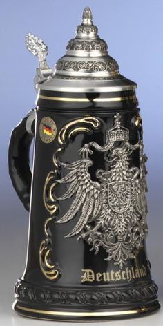 German beer stein - Christian would love a ceramic one with a lid as a gift ;-)