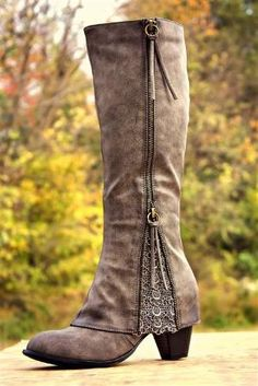 Southern Sass Boots - Wide Calf - Gray - (PRE-ORDER) by cathleen