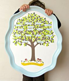 20 Sentimental Crafts to Make Grandma for Mother's Day Mod Podge a copy of your family tree onto a serving tray to beautifully display your family's history. Get the tutorial at Homemade by Jill. Diy Mother's Day Crafts, Mother's Day Diy, Holiday Crafts, Crafts To Make, Crafts For Kids, Diy Christmas, Xmas, Family Crafts, Diy Mothers Day Gifts