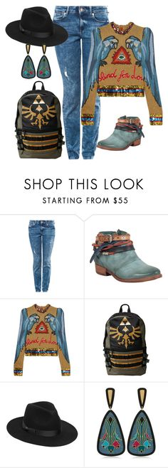 """""""Fun casual  women's outfit"""" by judy-scharf on Polyvore featuring A.S. 98, Gucci, Nintendo, Lack of Color and Anna e Alex"""