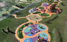 Have you ever thought about what goes into the design of those playground structures we see at schools, parks and … Landscape Concept, Landscape Architecture Design, Playground Design, Outdoor Playground, Design Maternelle, Parque Linear, Kindergarten Design, Public Space Design, Parking Design