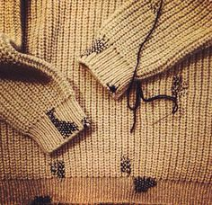 Repaired sweater | Stitch detail | Mending | Darning