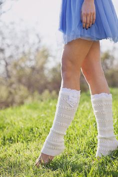 Lace Trim Leg Warmers Dancer Boot Sock LegWarmers by ThreeBirdNest, $28.50