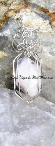 Caged Pink Opal in Sterling Silver