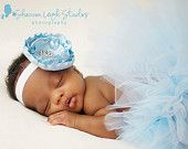 Sweet Rose Petals Baby Couture Tutu Custom Made With Matching Flower Headband Beautiful Newborn Photo Prop Many Colors Available. $35.00, via Etsy.