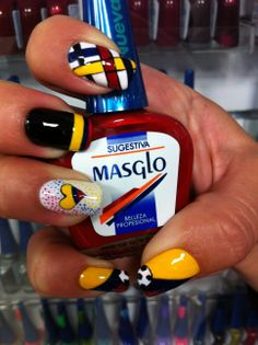 Love my Colombia! Pretty Nail Designs, Nail Art Designs, Cool Nail Art, Nail Arts, Toe Nails, Pretty Nails, Finger, Beauty, Patriots