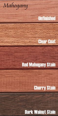 Mahogany is a heavy and very stable hardwood with coloring that varies from almost white to a deep brown. The grain is usually straight and slightly lustrous, and the wood is naturally decay and moisture resistant. Mahogany also takes stain and finish well.