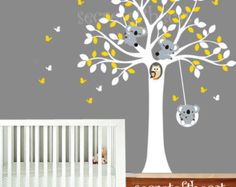 Wall Decals Nursery. Nursery Wall Decal. Tree by secretofthecat