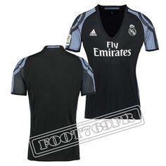 Promo Maillot Du Real Madrid Femme 16/17 Third Noir/Violet   Foot769Fr