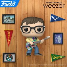 Weezer, Funko Pop Figures, Vinyl Figures, Rivers Cuomo, Cool Toys, Mickey Mouse, Disney Characters, Fictional Characters, Culture
