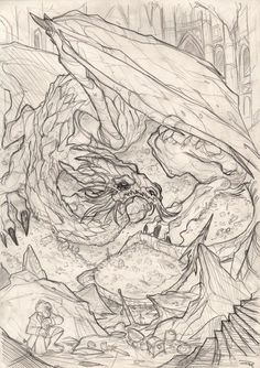 THE HOBBIT by Denis Medri - Smaug wip by DenisM79 on deviantART