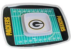 NFL Chip N Dip Tray - Celebrate your team pride and score a touchdown with your fans on game day with this awesome serving tray. It's great for chips and dip, veggies and sauce or hot wings and bleu cheese. Game on!