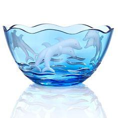 Jeffrey Banks Crystal Dolphin Bowl - Blue at HSN.com.