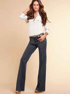 The Christie Flare Pant in Stretch Cotton