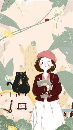 Super Ideas digital art anime tutorials illustrations Source by - Digital Art Anime, Anime Art, Kawaii Wallpaper, Iphone Wallpaper, Cute Backgrounds, Cute Cartoon Wallpapers, Copics, Cute Illustration, Aesthetic Anime