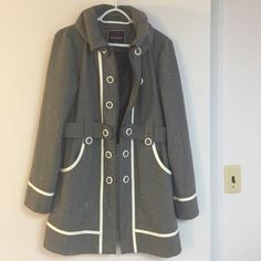 Gentle Fawn Grey Jacket Gentle Fawn Grey Jacket, size large, amazing fit and style! Great condition, not missing any buttons, longer length! Gentle Fawn Jackets & Coats Pea Coats