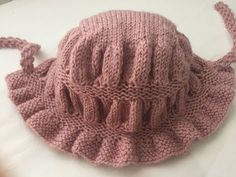 Baby Knitting Patterns, Baby Hats Knitting, Knitted Hats, Crochet Patterns, Crochet Hats, Crochet Baby Bonnet, Dress Hats, Baby Sweaters, Winter Hats