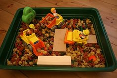 Dry Pasta Construction Sensory Box