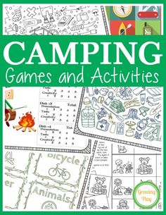 Camping Games And Activities Digital Download Is A Great Packet For Rainy Day Fun Campfire