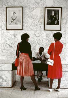 Chris Steele-Perkins: Uganda. Kampala. British consulate. 1984.
