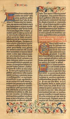 1895 Facsimile of the 42 Row Gutenberg Bible by CabinetOfTreasures