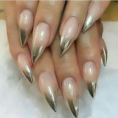 Stiletto design acrylic nails