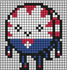 Pixel Art Templates, Perler Bead Templates, Perler Patterns, Beaded Cross Stitch, Cross Stitch Embroidery, Cross Stitch Patterns, Minecraft Pattern, Minecraft Pixel Art, Perler Bead Art