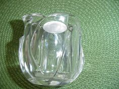 Lead Crystal Votive Candle Glass Votive Glass by Ednascloset, $7.90