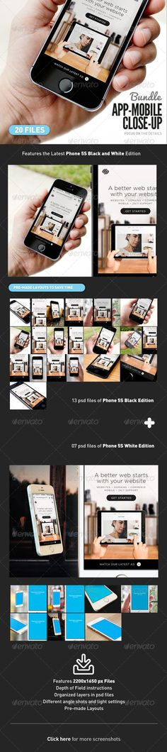 App UI Close-Up Mock-Up iPhone 5s Bundle #design Download: http://graphicriver.net/item/app-ui-closeup-mockup-5s-bundle/7688066?ref=ksioks