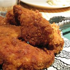 Chicken Fried Chicken... This is James' favorite!!! ... just thought I'd add it to my recipe box... I was told I need to make this at least once a week, but I usually go for every other week... don't want him to get burnt out on it... I top the chicken with with white peppered gravy, and serve with mashed potatoes :)