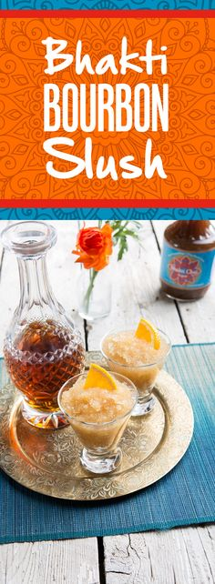 The fiery spice of Bhakti Chai concentrate blended with a splash of orange, lemon and bourbon is all you need to enjoy this frozen cocktail!