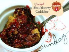 Crockpot Blackberry Cobbler - Slow Cooker Sunday - Todays Creative Blog
