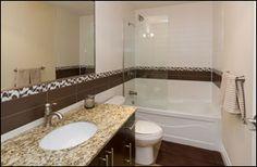 #IronWorks #Lofts, #Toronto Loft Bathroom, Bathrooms, Lofts, Corner Bathtub, Toronto, Iron, Loft Room, Loft, Bathroom