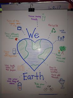 Earth Day poster with ideas from The Earth Book from Todd Parr. Earth Day Projects, Earth Day Crafts, Earth Day Activities, Preschool Activities, Children Activities, Preschool Worksheets, Save Earth Posters, Todd Parr, Community Helpers Preschool