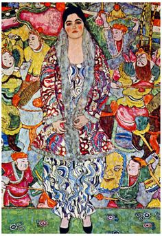 Gustav Klimt Portrait of Frederika Maria Beer Art Print Poster Poster bij AllPosters.nl