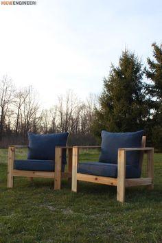 DIY Outdoor Lounge Chair - Free Plans   rogueengineer.com #DIYOutdoorLoungeChair #OutdoorDIYplans
