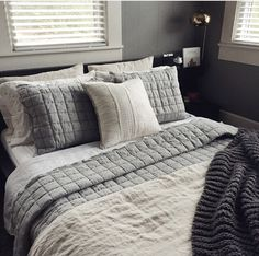Bedroom inspiration! Love this Belgian Linen bedding from West Elm