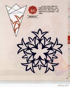 Snowflakes – DIY from paper and thread Paper Snowflake Designs, Paper Snowflake Template, Paper Snowflakes, Christmas Snowflakes, Christmas Crafts, Christmas Tag, Origami And Kirigami, Paper Crafts Origami, Chinese Paper Cutting