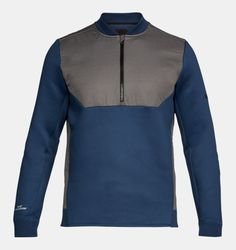 Men's UA Unstoppable GORE® WINDSTOPPER® ½ Zip, NIGHTTIME BLUE, NIGHTTIME BLUE, Click to view full size