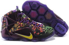 Lebron 12 Leopard Purple