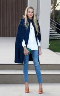 Gabriella attends the Burberry Prorsum show during London Fashion Week in 2013 | Poldark star Gabriella Wilde's most stylish looks - Fashion