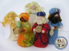 Nativity scene in felt - three kings and angels | Flickr - Photo Sharing!