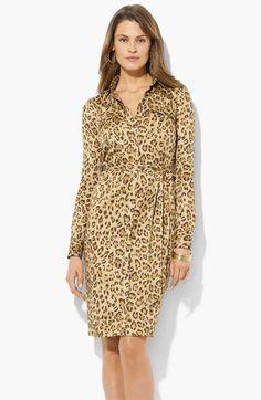 Lauren Ralph Lauren Animal Print Shirtdress – Nordstrom – $149