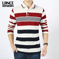 062fc65a2 Men England Style Striped Polo Shirt 95% Cotton Long Sleeve New 2016 Spring  Brand clothing M 4XL big size-in Polo from Men's Clothing & Accessories on  ...