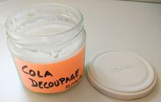 Receta de Pegamento para Decoupage (Mod Podge) casero low cost - De Norte A Sur Pasta Casera, Candle Jars, Candles, Diy And Crafts, Paper Crafts, Cement Pots, Lantern Festival, Baking Ingredients, Useful Tips