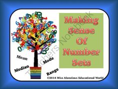 Mean, Median, Mode, and Range: Making Sense of Number Sets! from Miss Alaneious Educational World on TeachersNotebook.com -  (7 pages)  - This packet is a set of four mini-posters to serve as a reference tool when teaching mean, median, mode, and range! Examples are given on each poster!